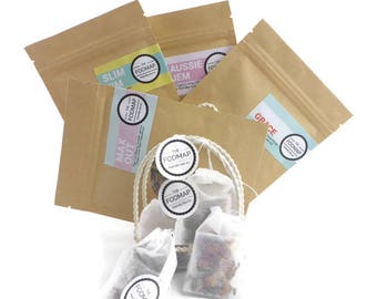 FODMAP friendly sample pack loose leaf tea and teabags // Gifts for her // Hand blended // Made in Melbourne