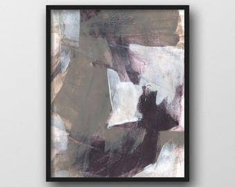 Taupe & Black Abstract Wall Art, Giclee Print, Contemporary Art, Urban Art, Abstract Art Print, Abstract Painting, Urban Wall Art
