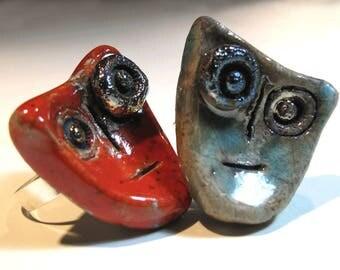 ring raku tribute to Miró