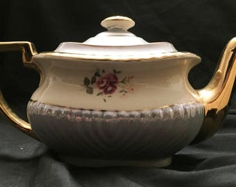 Beautiful Vintage Light Blue Georgian Gibsons Teapot... No Staining... Looks Like it was Never Used!!!