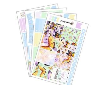 Butterflies - planner sticker kit for Erin Condren Life Planner