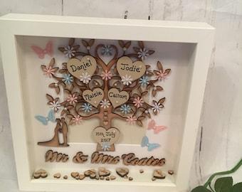 Beautiful Mr & Mrs Tree of Love with Surname