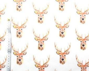 Fabric 100% cotton a half metre 50 x 160 cm, 100% deer head cotton