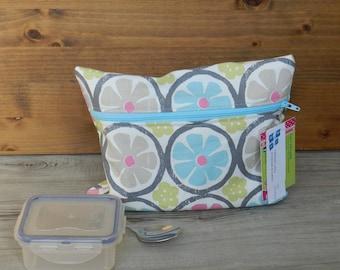 Bag for reusable snack bag waterproof snack, snack, snack bag, sandwich zipper bag, aqua, grapefruit