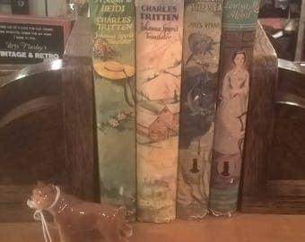 Art Deco oak bookends