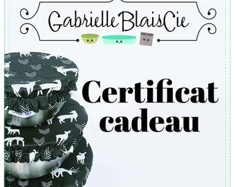 Gift certificate GabrielleBlaisCie gift card, gift