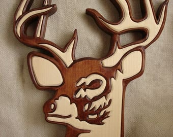 Deer, Deer wood carving, Wooden deer,  Deer Wall Hanging,  Wall hanging deer, Wall art,  Deer decor,  Deer art,  Woodland art