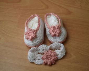 Baby Slippers and headband
