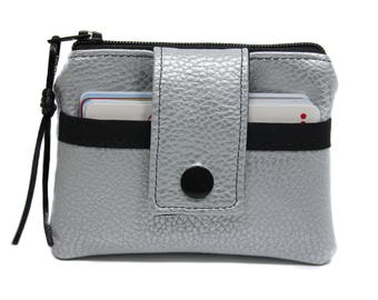Wallet / cardholder imitation leather imitation leather silver man woman