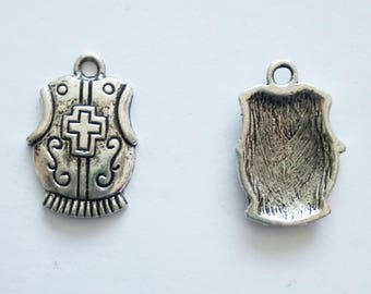 5 Knights Armour Charms. Tibetan Silver. Armor.