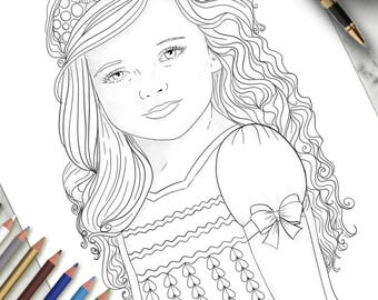 Printable Colouring Page Aria