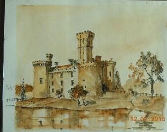 Montbron Limousin feudal Chateau