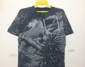 Vintage Fullprint Hawaii Shirt Black & White