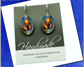 Cabochonschmuck Earrings Scarab Keeper of the Sun/guardian of the Sun
