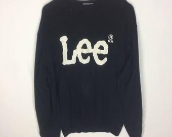Rare Vintage Lee Sweatshirt Big Logo