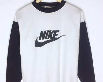 Rare Design Vintage Nike Big Logo Swoosh Long Sleeve T-shirt