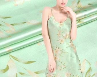 19MM 114cm width pure silk charmeuse fabric 100% muberry silk stain silk print fabric