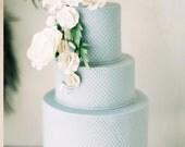 Three tier custom faux wedding cake