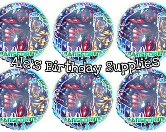 6 Pc Transformers  Balloons Party Birthday Supplies
