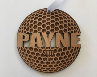 Golf Ball Ornament Golf Gifts For Men Golf Gifts for Women Golf Mom Engraved Ornament Personalized Custom Christmas Ornament Wood
