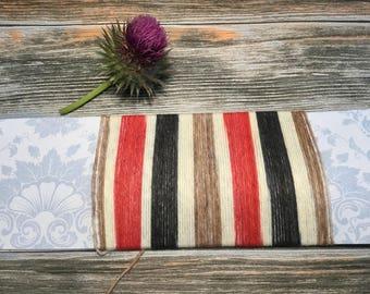 Very British! Handdyed selfstriping sock yarn.