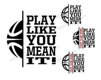 Basketball SVG Basketball Outline Download Files, Sports Quotes, DXF, EPS, Silhouette Studio, Vinyl Cut Files, Digital Cut Files for Cricut