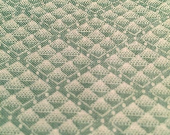 Green Geometric Pattern Cotton Fabric