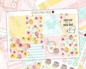 fresh start - full vertical kit - hand painted planner sticker kits perfect for spring!