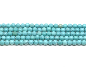 Turquoise beads, 3mm round, natural gemstone bead, small round beads, turquoise seed beads strands for making bracelet or necklace, TQS2007