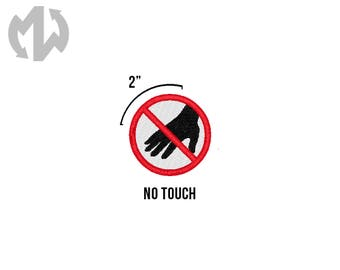 """NO TOUCH 2"""" round Service Dog Patch"""