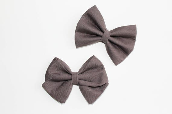 Charcoal Gray Bow