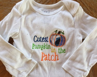 Fall Embroidered Onesie-6-12months