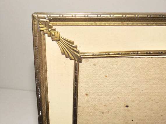 Gold tone frame reverse painted picture frame,8 x 10 gold frame,art ...