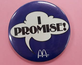 Vintage McDonald's Advertising Pin