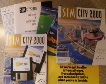 Sim City 2000 for Mac All Original Box Contents! One Owner