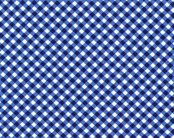Sale Midnight Cross Check Cotton Fabric from the Flowers A Plenty Collection by Michael Miller Fabrics