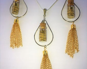 Pixie Dust Necklace and Earring Set with Tassels!