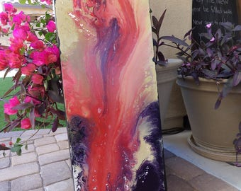 Red Abstract Art, Contemporary Art, Canvas Painting, Acrylic Painting, Colorful Abstract Painting, MX3's Artwork, Office Decor, Business Art