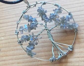 Tree of Life Crystal Pendant