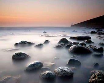 Coastal wall art, coastal home decor, fine art photography, beach print, coastal sunrise, nautical wall art, sunrise print, coastal print