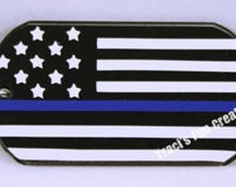 Support Blue Keychain, Support Blue Acrylic Keychain, Key Chain, Keychain, Custom KeyChain, Support Police Officers