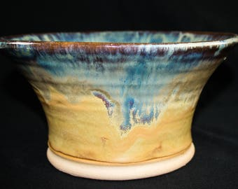 Handmade Sands of Time Stoneware Fruit Bowl