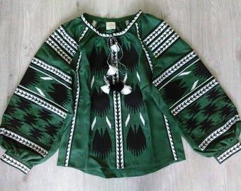 Bohemian linen Vyshyvanka blouse Mexican style Ukraine boho blouse. Ethnic embroidery. Ukrainian vyshyvanka. Kaftan. Kilim Free shipping
