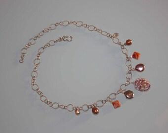 Vintage Silver Multi Media Necklace