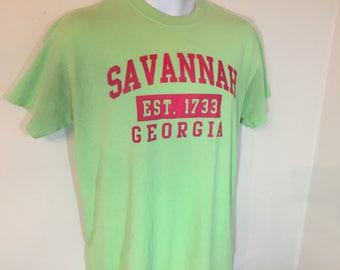 SAVANNAH GEORGIA EST 1733- T-Shirt Adult - M       z