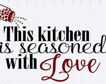 Seasoned With Love Design SVG pdf eps dxf Studio 3 Cut Files