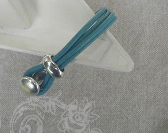 "Bracelet freshwater ""Button"" turquoise"