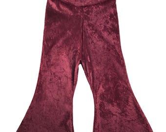 Bordeaux Bell Bottoms Flared Pants