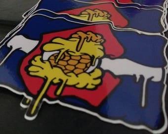 Globber Colorado Flag Sticker