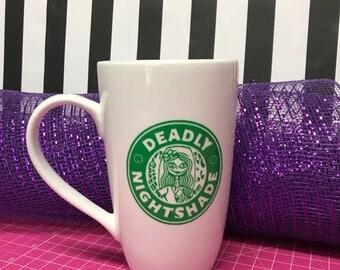 Deadly nightshade 16oz latte Coffee mug
